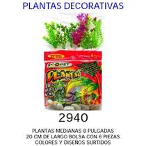 Plantas Decorativas Para Pecera 20 Cm Bolsa Con 6 Piezas Rym