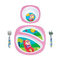 Bebes Set De 4 Utensilios Comer Emily Sonaja De Caracol
