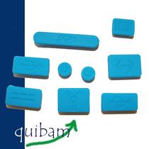 Apple Macbook Kit Cubre Puertos Protector Polvo Agua Azul