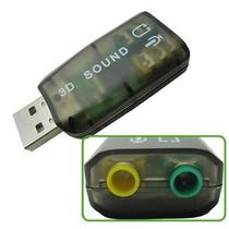 Tarjeta De Sonido Usb Audio 5.1 Canales3d Audifono Microfono