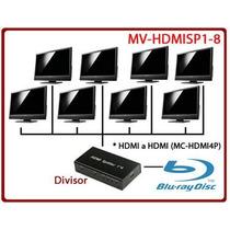 Divisor Amplificador Para Señal Hdmi 1 Entrada 8 Salidas Vv9