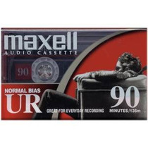 Maxell 108527 Ur-90 En Blanco De La Cinta De Casete De Audio