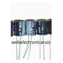 Capacitor Electrolitico De 4.7 Uf / 350 V Filtro Negro 3 Pzs