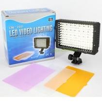 Lampara P Video 160 Leds Kit C/ Bateria 5hrs Y Cargador Mn4