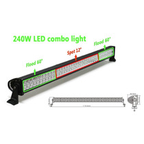 Tm Luces 41.5 Off-road Extra Led Light Bar Cree - 240w Floo
