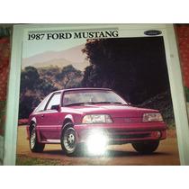Catalogo De Venta De Ford Mustang 1987 Original Nuevo