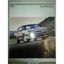 Catalogo De Venta De Ford Mustang 1985 Original Nuevo