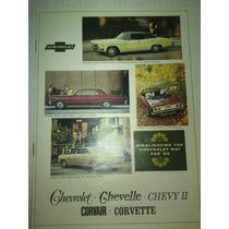 Catalogo De Venta Chevelle Chevy 2 Covair Corvette 1966
