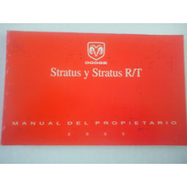 Manual De Propietario Dodge Stratus Y Rt 2003 Español