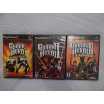 Video Juegos Lote Ps2 Guitar Hero World Tour 2 Y 3 #a466