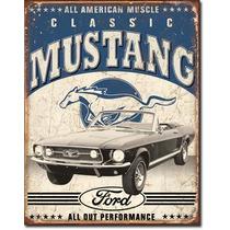 Poster Metalico Litografia Anuncio Classic Mustang Muscle