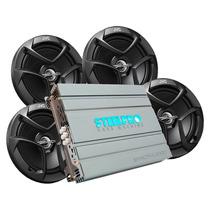 Paquete Amplificador Steelpro Exact 4.300d Con 2 Pares De