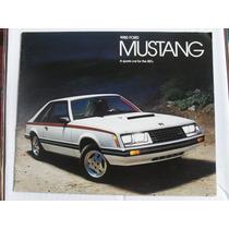 Catalogo De Ford Mustang 1980 Nuevo Original