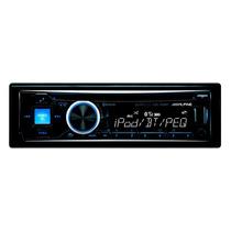 Auto Stereo Cd Alpine Cde-hd143bt Con Entrada Usb Y Auxiliar