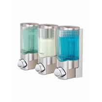 Dispensador De Jabon Liquido Shampoo Baño Despachador Triple