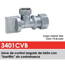 Llave Angular De Latón Con Barrilito Dica 3401 Cvb