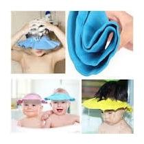 Gorro Protector Ojos Oidos Agua Baño Gorra Shampoo Bebe