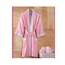 Bata De Baño Con Pantuflas Rosa
