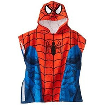 Marvel Spiderman Con Capucha Baño / Playa Poncho Toalla