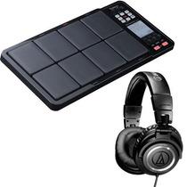 Roland Spd-3bk Octapad Pad De Percusion + Audifonos Ath-m50