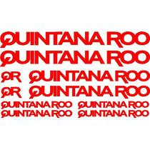 Jgo De 8 Calcomanias Para Bicicleta Quintana Roo