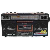 Radio Retro Cassette Con Usb Y Sd Mp3, Am Fm Sw1-2 4 Bandas