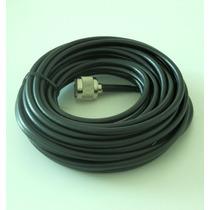 Cable Coaxial Rg6 10m Baja Perdida Conectores N Macho