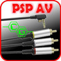 Cable De Video Av Psp Slim 2000 3000 Tv Normal!!! En Caja