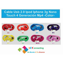 Cable Usb Generación Mp4 2.0 Ipod Iphone 3g Nano Touch 4