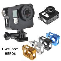 Carcasa De Aleacion De Aluminio Para Go Pro Hero 4