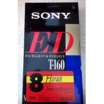Cassette Sony Vhs T160 ¡solo Mayoreo $65.00pz!