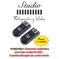 Disparador Remoto Transceptor Yongnuo Rf-603c P/ Canon