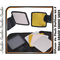 Flash Diffuser Softbox Kit F Nikon Y Canon