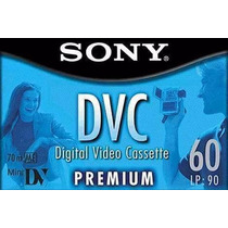 Paq.10 Video Cassette Digital Sony Mini Dv 60min Dvc 70m