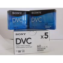 5 Sony Dvc Minidv Cassette 60 Minutos - Nuevos - 5 Piezas