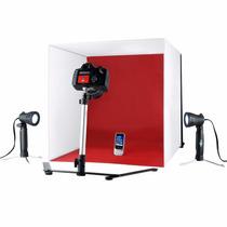 Set Profesional De Fotografia De Producto Con Led Y Fondos