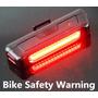 Luz Trasera Stop Rojo Para Bicicleta Recargable 100 Lumens