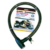 Cable Candado Flexible Llave Redonda Hd 1m Mikels