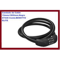 Candado De Cable 15mmx1800mm.negro Xt446 Comb.benotto Elite