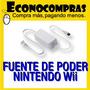 Fuente De Poder Ac De Nintendo Wii Grado A 100% Nuevo!!!!!!!