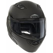 Stealth Vertice Full Face Modular Helmet (gloss Black, Large