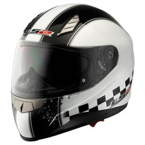 Casco Ls2 Moto Ff384 Speed Mica Interna Sunvisor Talla L