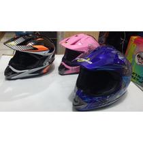 Casco Profesional De Motocross Diversos Diseños Y Colores