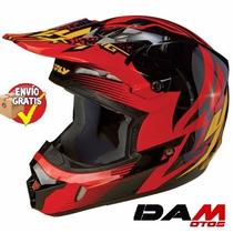Casco Cross Cuatrimoto Fly Racing Kinetic Inversion Helmet L
