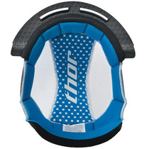 Thor Quadrant S10 Reemplazo Helmet Liner Azul / Blanco Xl