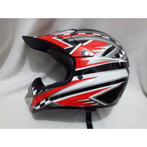 Casco Profesional Bmx / Cross Red Racing