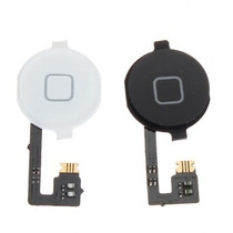 Home Button Con Flex Para Iphone 4/4s Blanco Y Negro Origina
