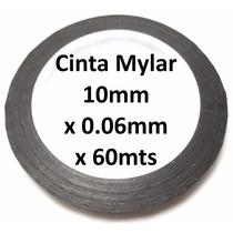 Cinta Adhesiva Mylar 10mm Negra P/ Sellar Display De Celular