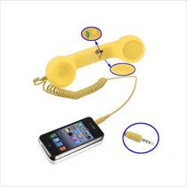Celular Retro Auricular Del Teléfono Con Cuidado
