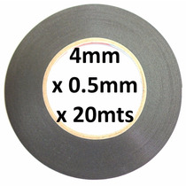 Cinta Adhesiva Doble Cara 4mm X 20m Negra Espesor 0.5mm !!
